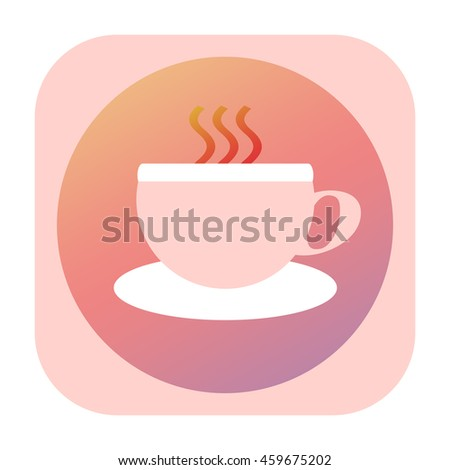 Tea, coffee or any other hot drink icon - stock photo