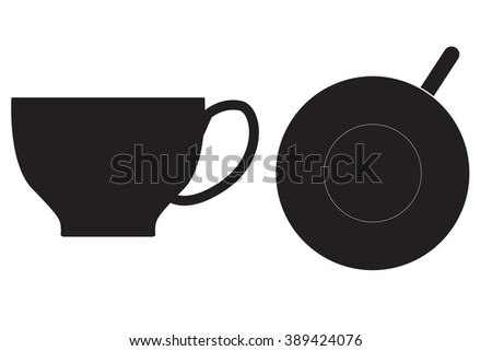 Tea cup icon.   illustration isolated on white background.  Raster version - stock photo