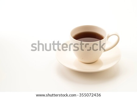 tea cup on white background - stock photo