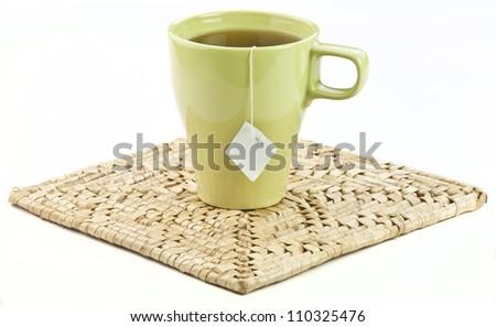 tea cup with tea - stock photo