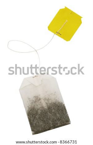 Tea in bags on a white background