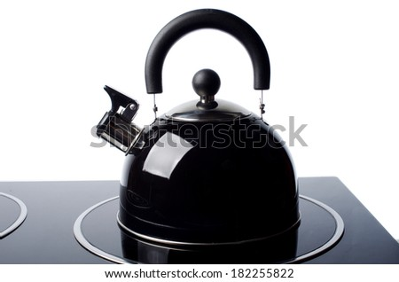 Tea kettle on white background