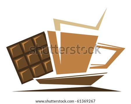 Tea or coffee symbol. Vector version also available in gallery - stock photo