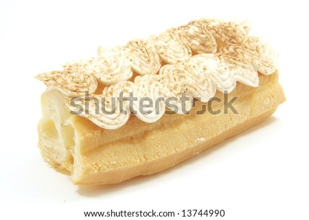 Tea Time Baked Biscuit Treats with Cream Icing - stock photo
