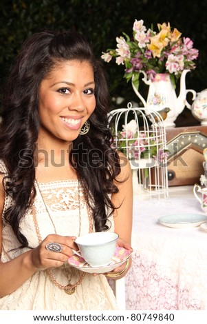 Tea Time with a Young Woman