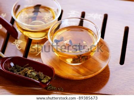 Tea .Traditional Chinese Tea Ceremony - stock photo