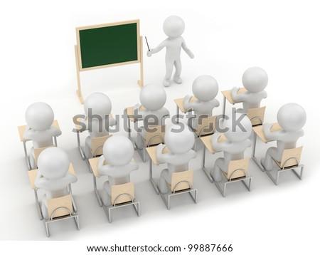 teacher and class - stock photo