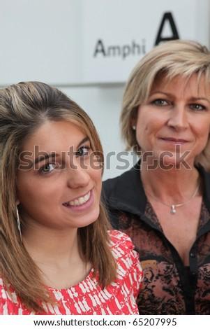 Teacher and student - stock photo
