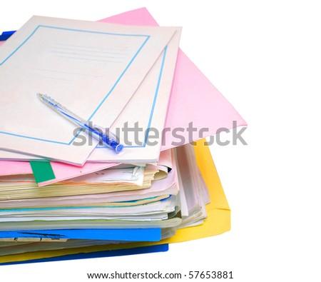 teaching file documents - stock photo