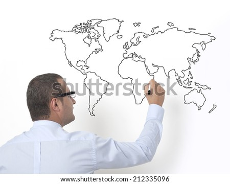 teaching of geography in schools - stock photo