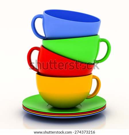 teacup with saucer on a white background
