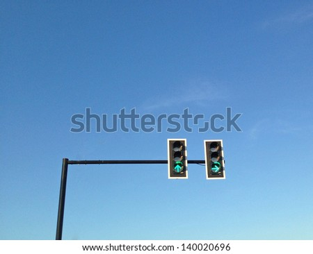 teaffic and signal - stock photo