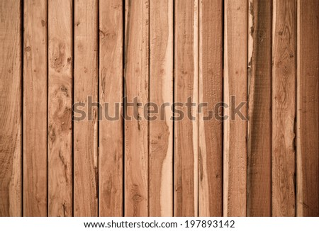 teak plank wall / teak wood texture - stock photo