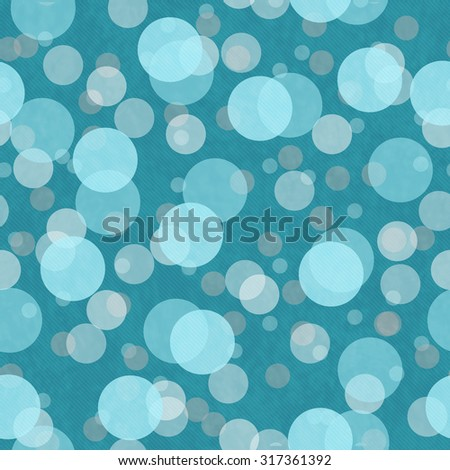 Teal And Gray Transparent Polka Dot Tile Pattern Repeat Background that is seamless and repeats - stock photo