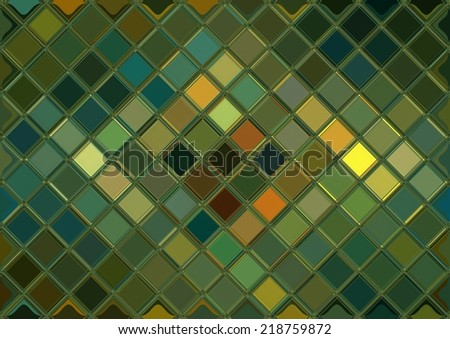 Teal and green mosaic