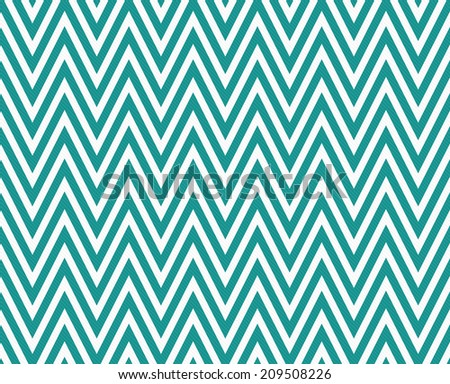 Teal and White Zigzag Textured Fabric Pattern Background that is seamless and repeats - stock photo