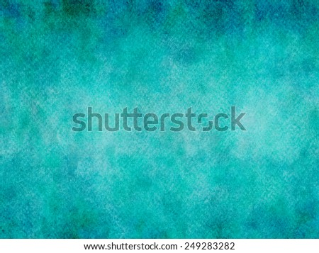 Teal Aqua Blue Watercolor Paper Colorful Texture Background  - stock photo