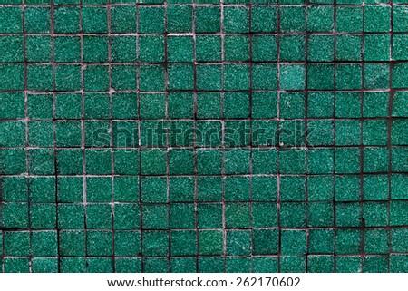 Teal Tile Pattern - stock photo
