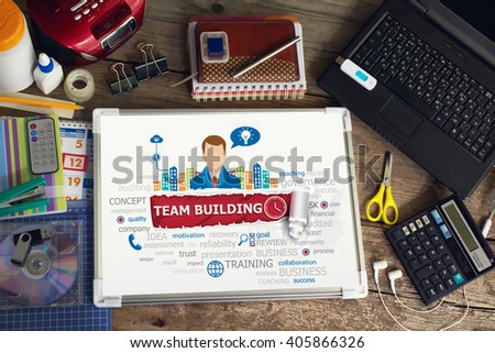 Team Building concept for business, consulting, finance, management, career. - stock photo