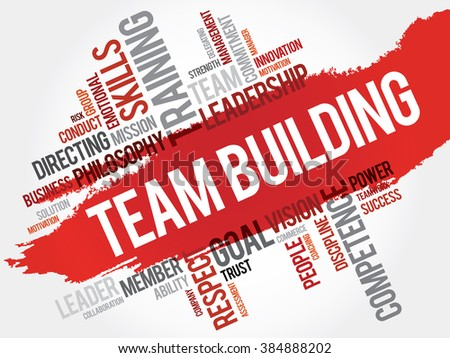 TEAM BUILDING word cloud, business concept - stock photo