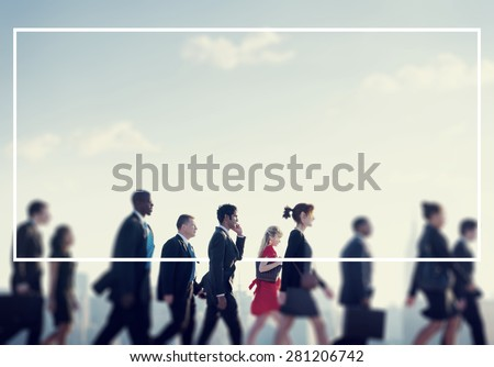 Team Business People Corporate Walking City Concept - stock photo