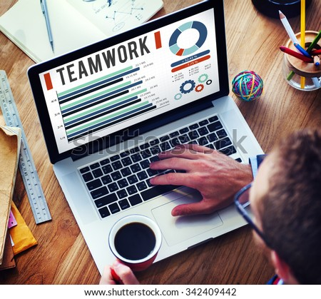 Team Corporate Teamwork Collaboration Assistance Concept - stock photo