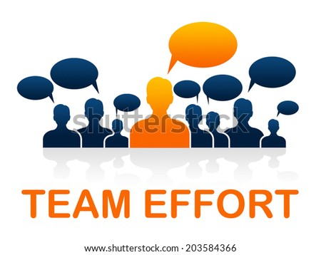 Team Effort Representing Solidarity Together And Organization - stock photo
