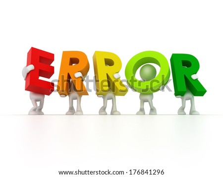 Team forming ERROR word - stock photo