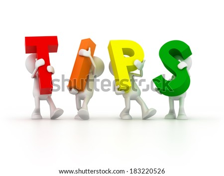 Team forming Tips word - stock photo