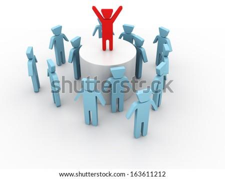 Team Leader - stock photo