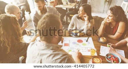 Team Meeting Brainstorming Planning Analysing Concept - stock photo