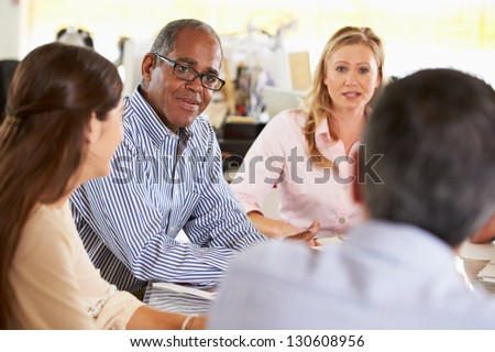 Team Meeting In Creative Office - stock photo