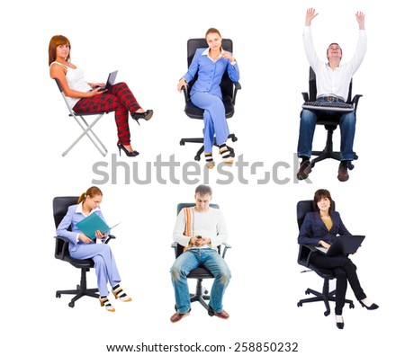 Team Meeting Isolated Group  - stock photo