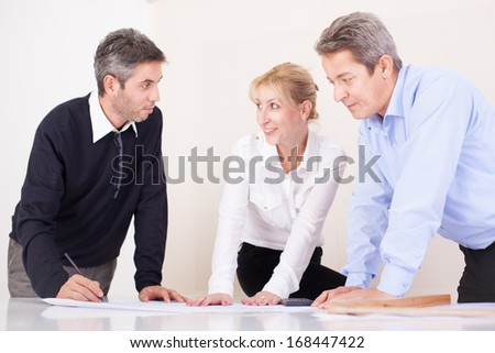 Team of architects in their office on work.  - stock photo