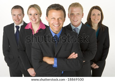 Team Of Business People Smiling - stock photo