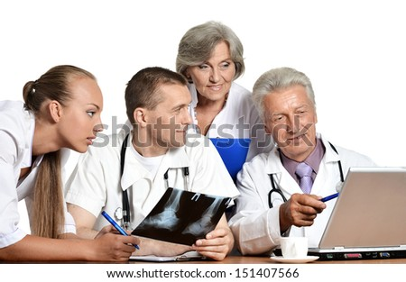 team of doctors are considering an Xray