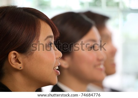 team of people in a business meeting - stock photo