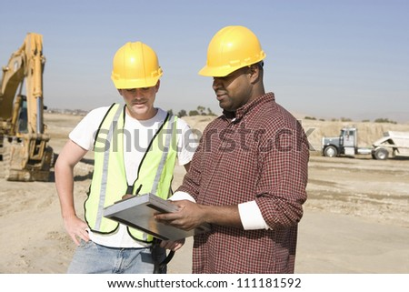 Team of workers discussing - stock photo