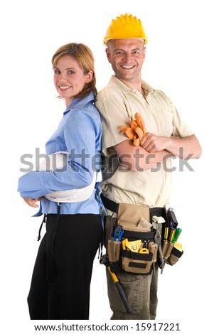 team of young architects - stock photo