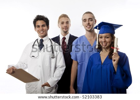 team of young professionals - stock photo