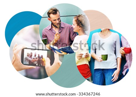 Team Socializing Discussion Communication Activity Concept - stock photo