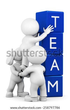 team stacks - stock photo