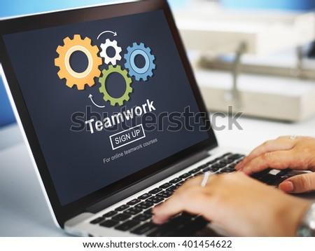 Team Teamwork Collaboration Cooperation Concept - stock photo