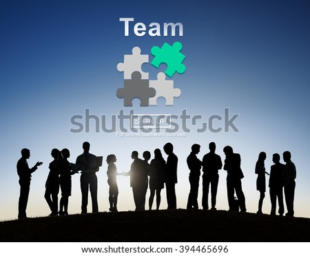 Team Teamwork Homepage Collaboration Concept