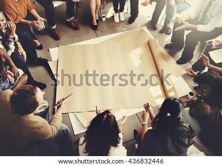 Team Teamwork Meeting Start up Concept - stock photo