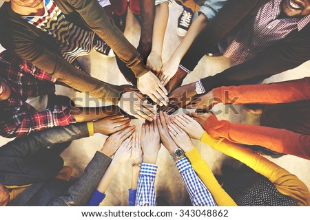 Team Teamwork Togetherness Collaboration Concept - stock photo