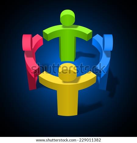 Team Work, Friendship, Partnership, Social Network Concept Design Template - stock photo