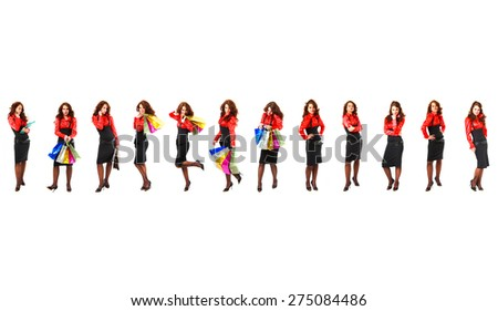 Teams over White Isolated Groups  - stock photo