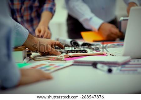 Teamwork Business Meeting Concept - stock photo