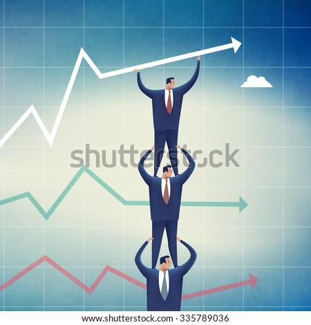 Teamwork. Concept business illustration - stock photo